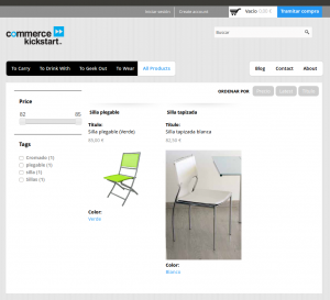 Productos tienda on-line